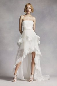 White By Vera Wang White By Vera Wang High Low Tiered Wedding Dress Wedding Dress