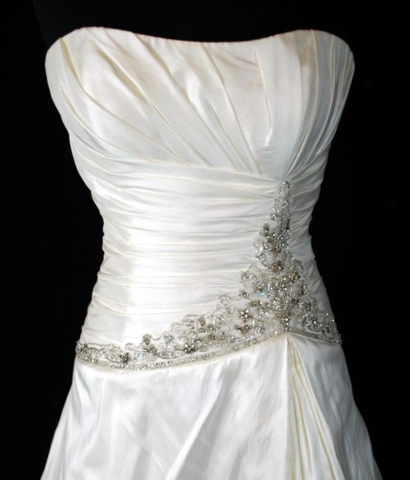 Casablanca Ivory 1946 Wedding Dress Size 10 (M) - Tradesy