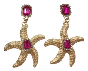 Other Pink & Goldtone Starfish Fashion Earrings w Free Shipping