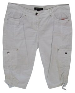 White House | Black Market Slim Pedal Cropped Pants Cargo Capris White