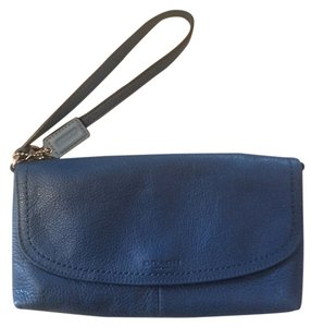 Coach Clutch Wallet Wristlet in Blue