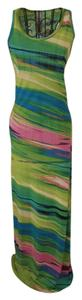 Green, Lime and Pink Maxi Dress by