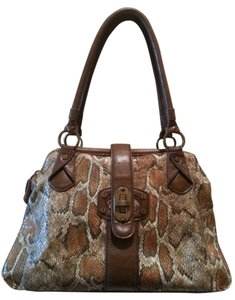 Jessica Simpson Satchel Lizard Oversized Tan Hobo Bag
