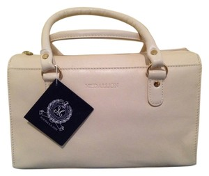 Wathne Leather Color Satchel in Bone