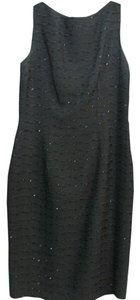 Carmen Marc Valvo Beaded Sleeveless Dress