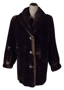 Tissavel of France Vintage Faux Fur Fur Coat