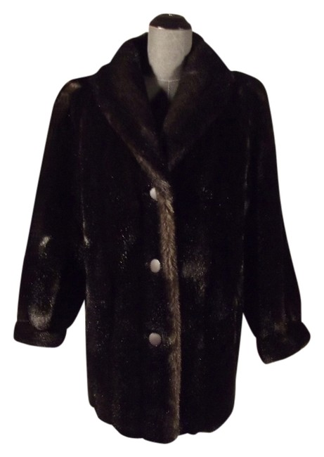 Tissavel of France Vintage Faux Fur Coat