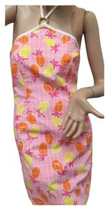 Lilly Pulitzer short dress Pink, orange and yellow Summer Spring Bandeau Short on Tradesy