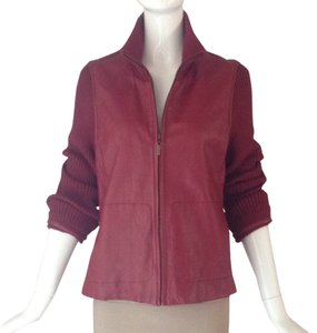 Cacharel Red Leather Jacket