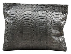 Other Adriana Castro Snakeskin Pouch Gray Clutch