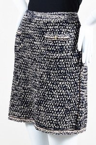 Chanel Navy Blue Black And Mini Skirt Multi-Color