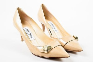Jimmy Choo Nude Patent Beige Pumps