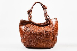 Nancy Gonzalez Crocodile Python Hobo Tote in Brown