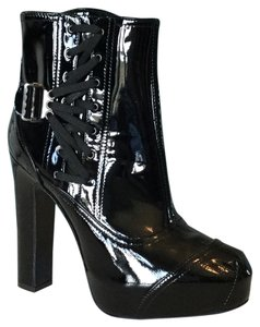 Alberta Ferretti Boot Black Patent Leather Boots