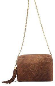 Chanel Zip Around Chevron Crossbody Shoulder Bag