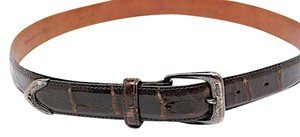 Ralph Lauren RALPH LAUREN Brown 100% Alligator Belt w/Sterling Silver Buckle