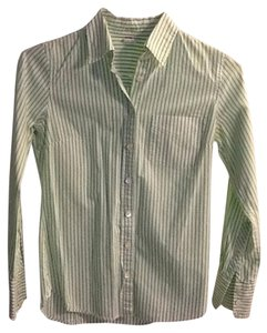 J.Crew Work Business Button Down Shirt Light green pinstripe