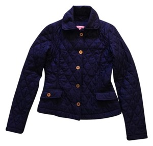 Lilly Pulitzer Quilted Fall Gold Navy Jacket
