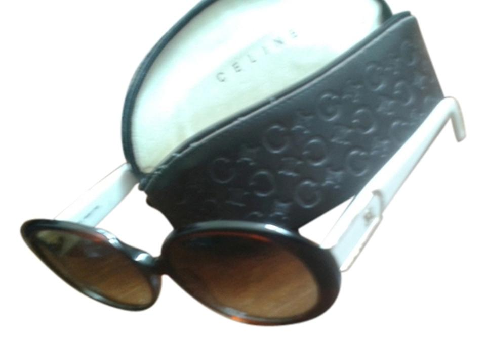 62316146812 Céline Flesh and Brown Vintage Oversized Sunglasses - Tradesy