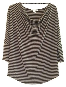 Kenneth Cole Top Black and Grey Striped