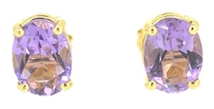 Other 14K Yellow Gold 2.45Ct Amethyst Stone Stud Earring 1.8 Grams