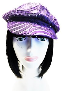 Purple Newsboy Cap by Something Special [ Roxanne Anjou Closet ]