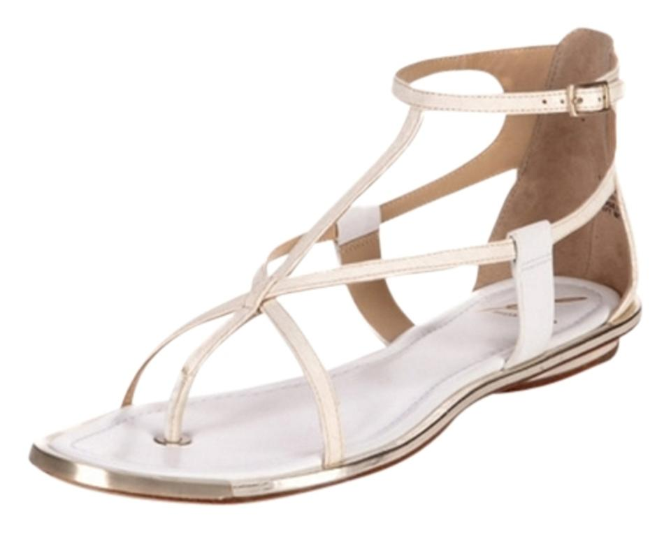 B Brian Atwood Cream Cream Atwood Caswell Sandals d99ed6