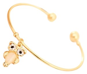 Other 9k Gold Filled Cuff Bracelet Rhinestone Owl Charm Free Shipping