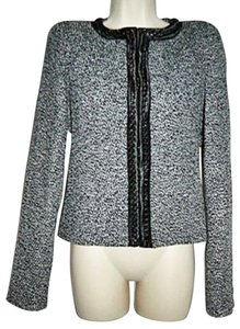 Other Bolero Jacket Size Medium Chain Trim New Black White Blazer