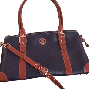 Dooney & Bourke Satchel in Navy,brown