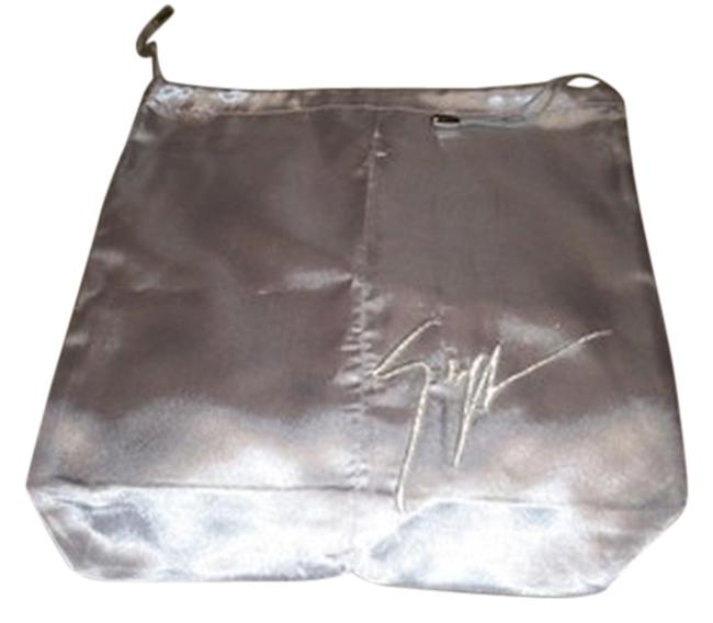 Item - Satin Gray with Silver Logo Finish Sleeper/ Dust Bag Or Protective For Shoes Split In Middle Cover 12