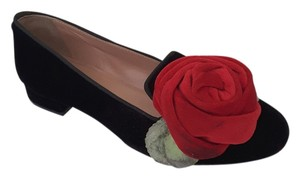 RED Valentino Black velvet Flats