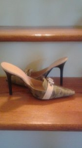 Casadei Worn Once Great Condition Green, beige Mules