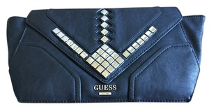 Guess Metallic Hardware Black Clutch