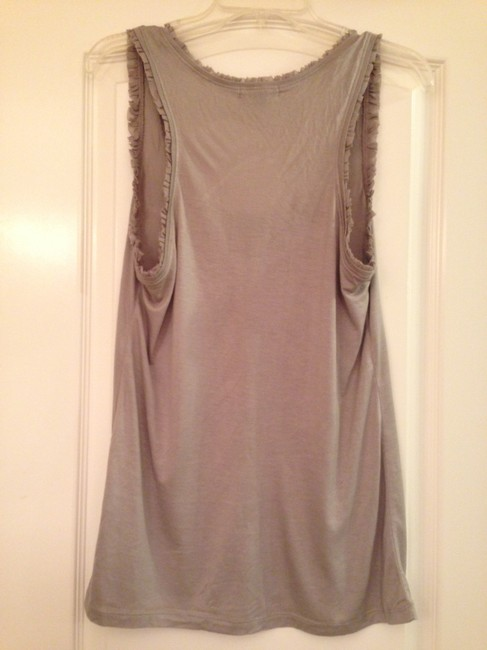 Banana Republic Tank Ruffles Top Light Gray
