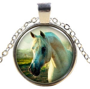 Other White Arabian Horse Pendant Necklace Free Shipping