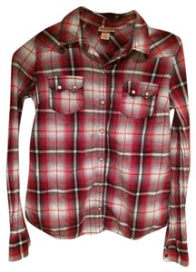 Mossimo Supply Co Button Down Shirt Red