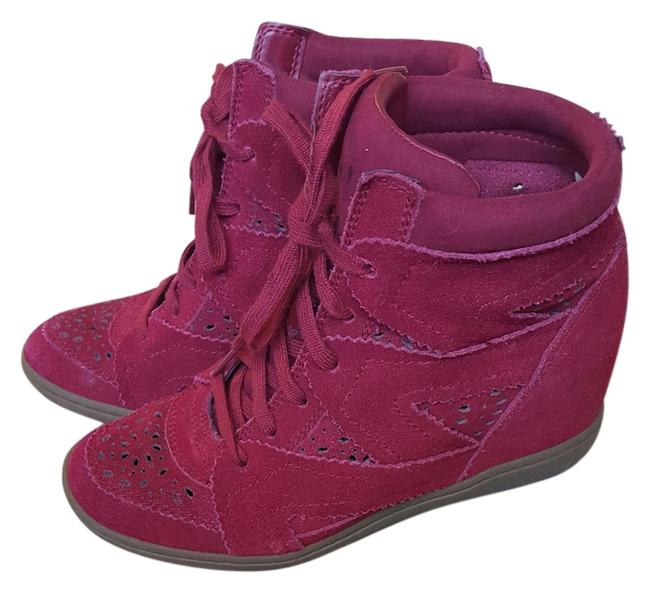 Item - Burgundy / Red Sneakers Wedges Size US 7