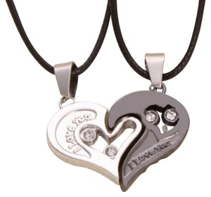 Other 2pc Interlocking Heart Necklaces Free Shipping
