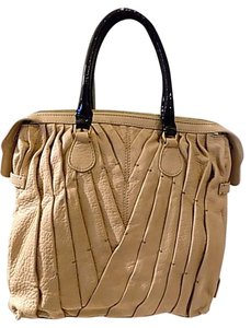 Valentino Leather Satchel in Tan