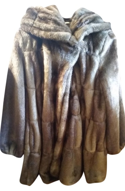 Item - Brown and Tan Faux Coat Size 6 (S)