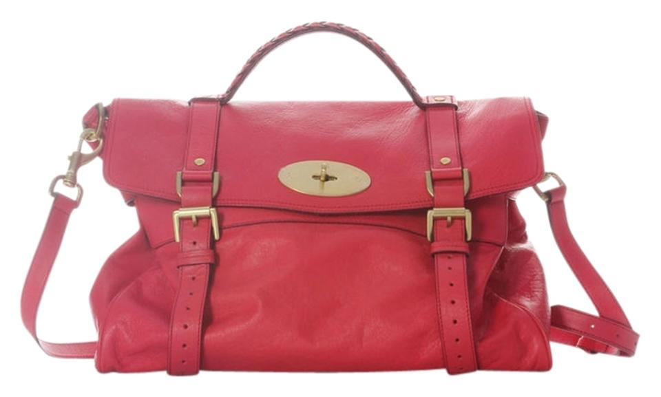 Mulberry Buffalo Ml.h1203.18 Red Gold Hardware Large Pink Messenger Bag ... e79aa76341eac