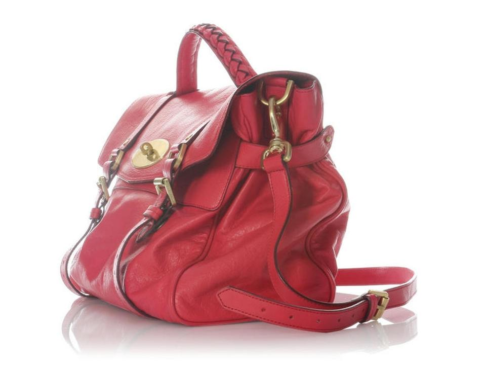 Mulberry Oversized Alexa Watermelon Pink Buffalo Leather Messenger ... 2d40e705436dd
