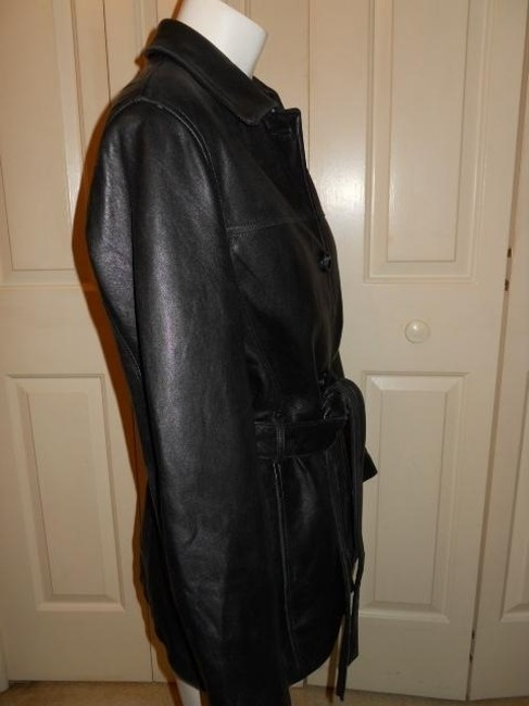 Adler Collection Lambskin black Leather Jacket