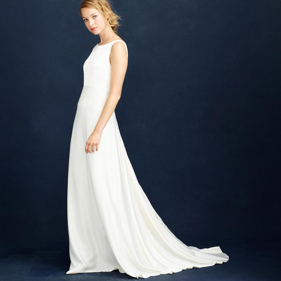 J.Crew Ivory Percy Vintage Wedding Dress Size 8 (M) - Tradesy