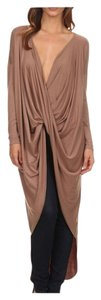 High-low Maxi Plunging V-neck Tunic