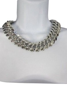 Women Short Lightweight Chunky Silver Plastic Thick Big Chains Fashion Necklace