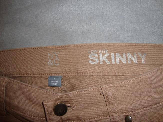 New York & Company Skinny Pants Dark Tan