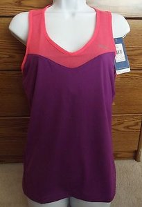Reebok Reebok Purple Orange Racerback Tank