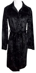 Fash-ion-is-ta by S & D Crushed Velvet Trench Vintage Size P/xs Trench Coat
